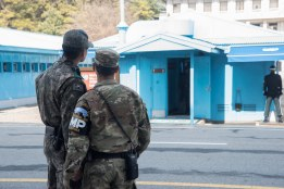American forces help patrol Panmunjeom