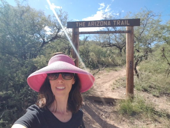 Me getting ready to hike the AZ trail with a group of students!